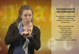 Rapport från teckenspråkets dag
