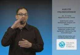Kurs för teckenspråkiga finlandssvenskar