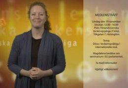 Medlemsträff november - Magdalena Kintopf-Huuhka