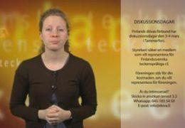 Diskussionsdagar representation - Magdalena Kintopf-Huuhka