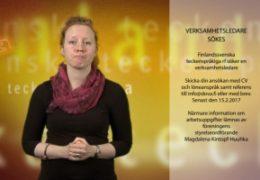 Arbetsannons verksamhetsledare - Magdalena Kintopf-Huuhka