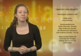 Rapportering från Årsmöte - Magdalena Kintopf-Huuhka