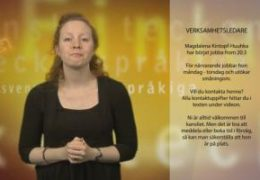 Verksamhetsledare presentation - Magdalena Kintopf-Huuhka